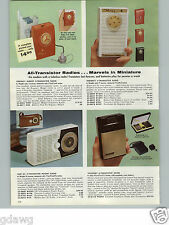 1960 PAPER AD 4 PG All Transistor Radio Radios GE Regency Westinghouse Viscount