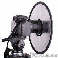"Photography 12"" 2in1 Circular Hand Lens Mount Light Reflector Silver/Gold Studio"