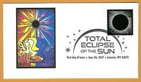 Colorful Equestrian Solar Eclipse. Total Solar Eclipse of the Sun. FDC