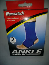 Lifeweartech 2 Pack Ankle Support Brace  for Men or Women, One Size fits All.
