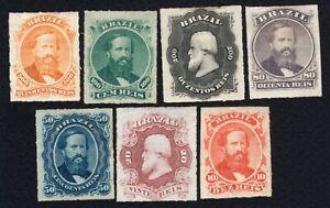 Brazil 1876 set of stamps Mi#30-36 MH CV=950€