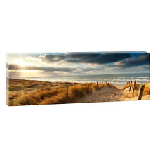 Weg zum Meer- Bild Leinwand Poster Strand Meer Modern Design 150 cm* 50 cm 625a