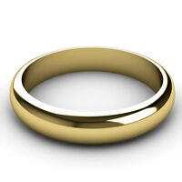 Wedding Ring 9ct Yellow Gold 4mm Band. Choose Light, Standard, Medium or Heavy