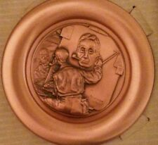 Norman Rockwell Copper Collector Plate #1712 with Certificate of Authenticity.