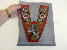 really old antique bead work flowers