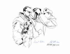 APOLLO 11 ASTRONAUT MICHAEL COLLINS *SIGNED* SUITING UP PRINT, ARTIST PAUL CALLE