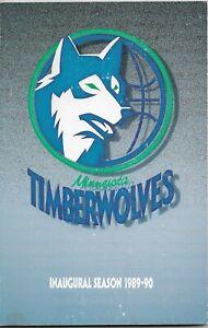 1989-90 MINNESOTA TIMBERWOLVES NBA MEDIA GUIDE VINTAGE FREE SHIPPING