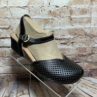 Spring Step L'Artiste Lizzie Sandal EUR 38 US 7.5 - 8 Black Leather Slingback