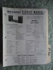 Sharp SC-107U service manual original repair book stereo receiver tuner radio