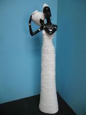 African Black Lady women figurine statue DECOR home bar set girl NEW elegant  #