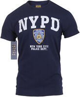 NYPD T-Shirt Official Licensed Navy Blue Athletic Tee New York City Police Dept