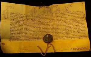 POPE CLEMENT XII BULLA Signed by Cardinal Carafa - 1733 (Papstbulle und Siegel)