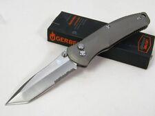 Couteau Gerber Venture Tanto Titanium A/O Acier 7Cr17Mov Manche Titane G0405