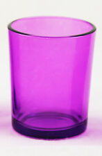 Purple Glass Tealight Candle Holder Table Birthday Wedding Party Buy Qty Req