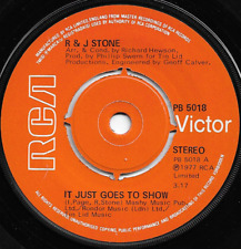 R & J STONE - IT JUST GOES TO SHOW / OH BABY YOU - ORIGINAL 70s VOCAL POP