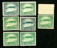 US Stamps # 568 F-VF Lot of 7 OG NH Catalog Value $210.00