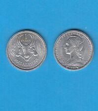 Madagascar 1 Franc aluminium  1958