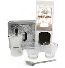 Arabica Coffee With Milk Thistle Seed and Italian Coffee Maker Set