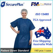 SecurePlus Patient Hospital Disposable Gowns 140 pcs / Carton TGA Approved New