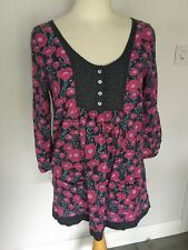 White Stuff Ladies Patterned 3/4 Sleeve Top Size 10. Good Condition.