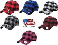 KB Ethos Plaid Flannel Baseball Cap Hat Caps Hats Hunting Vintage Adjustable New