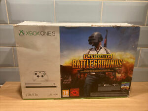 USED XBOX ONE S 1TB CONSOLE BOX *EMPTY BOX ONLY* Battlegrounds Artwork