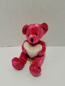 """Mini 4"""" Russ Li'l Kisses Red Teddy Bear Bean Plush Heart Love Tag Valentines Day"""