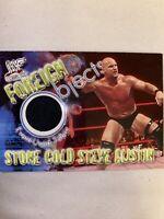 Fleer WWF Stone Cold Steve Austin event worn shirt card +WrestleMania Debut Card