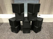 Bose Double Cube Speakers X5 With 2x Floorstands Black Surround Sound Satellite