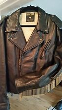 RARE, VINTAGE MOSCHINO HEAVY LEATHER WOMAN'S BIKER JACKET