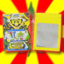 LOT DE X100 POCHON MARIO GROSSE MOULA CBD PLASTIQUE POCHETTE SACHETS ZIP 3,5g