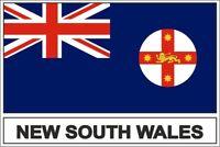 Sticker adesivi adesivo bandiera new south wales australia