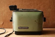 toaster anni 60 verde in metallo, tosta pane vintage
