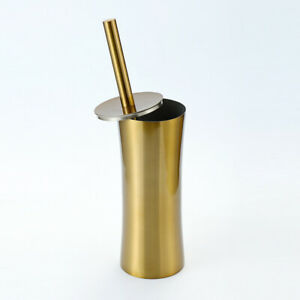 New Stainless steel Toilet Brush Holder Cleaning Set Flooring Stand Luxury Gold