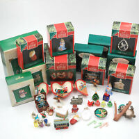 Vintage Hallmark Miniature Christmas Ornaments Ranging from 1990-2005 (14) AS IS
