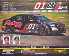 """2010 APR Motorsport #01 """"2nd issued"""" Audi S4 Continental Tire postcard"""