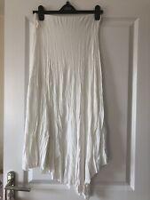 White Gypsy Skirt With Hankerchief Hemline Size 10
