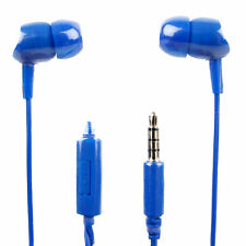 In-Ear Earphones in Blue With Microphone for the Meizu M3r - by DURAGADGET