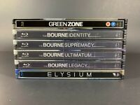 Blu-Ray Steelbook Lot (Bourne, Elysium, Green Zone, & more)