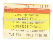 Alicia Keys 2/5/2002 Authentic Original Ticket Stub Milwaukee (508)
