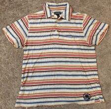 Men's Lucky Brand Vintage Inspired Short Sleeve Polo Shirt Medium 100% Cotton