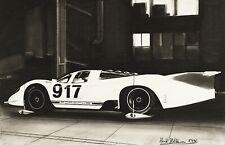 Original ARTWORK - PORSCHE 917 PROTOTYPE in WINDTUNNEL by artist Henk Holsheimer