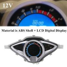 12V Motorcycle Blue LCD Digital Odometer Speedometer Tachometer  Gauge Meter