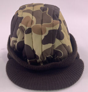 VTG Columbia Sportswear Duck Camo Hunting Hat Thinsulate Made in USA cap trapper