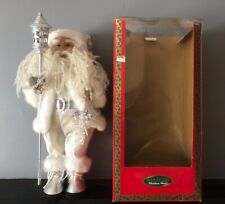 Vintage Large 50cm Standing Santa Claus Figure by Dazzlers Christmas World