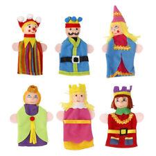 Fingerpuppen mit Holzköpfen 6 Stück Königs King & Queen Set Theater Display