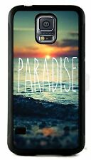 For Samsung Galaxy s3 s7 s8 Paradise Beach Back Design Rubber Phone Case