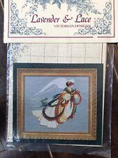 Vintage Cross Stitch Chart Lavender & Lace Angel Of Autumn 1994