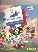 ALBUM PANINI FOOTBALL 1998 FRANCE 98 WORLD CUP  COMPLET+BON COMMANDE NO SCORE