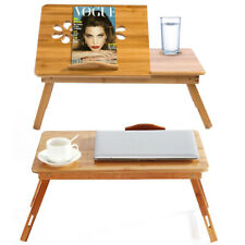 Bamboo Portable Legs Laptop Notebook Table Bed Tray PC Desk Stand Foldable